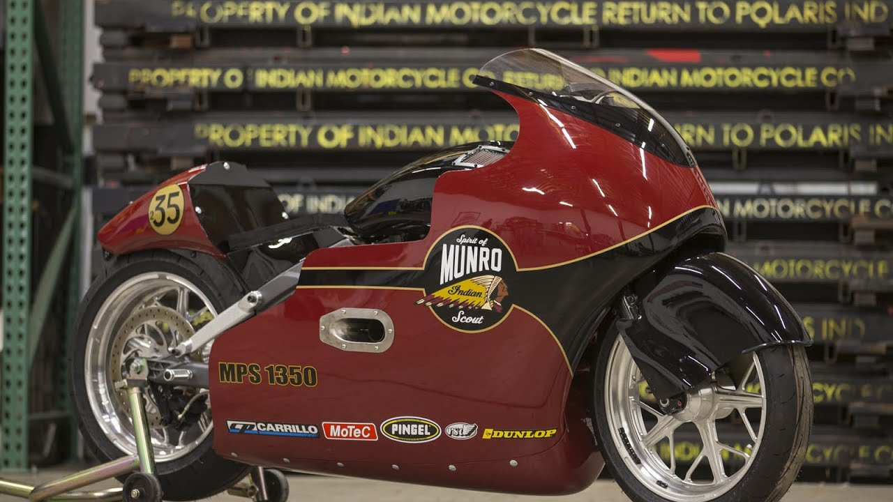 Indian Motorcycle honors legend Burt Munro with modified 2017 Scout