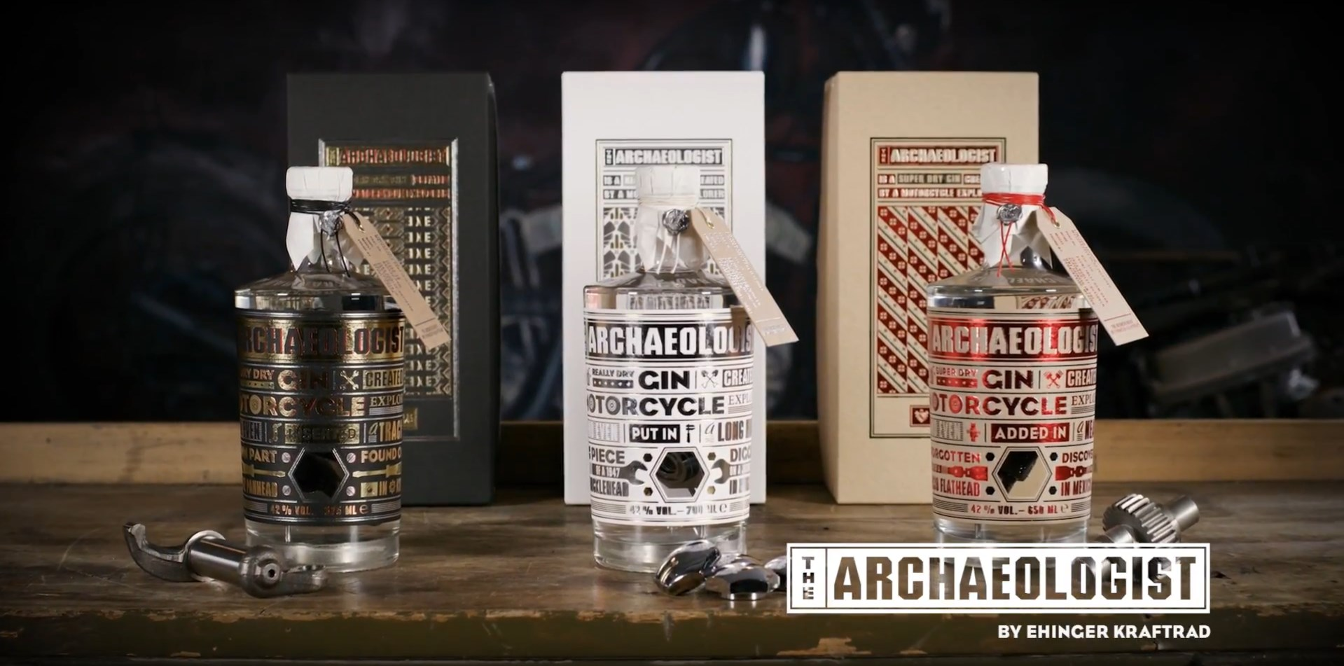 You can now drink Harley-Davidson bike parts in a bottle of gin!