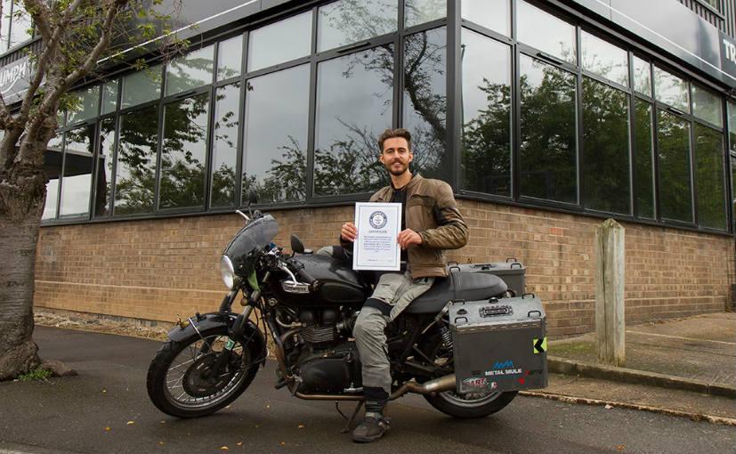 British biker sets Guinness World Record for solo ride