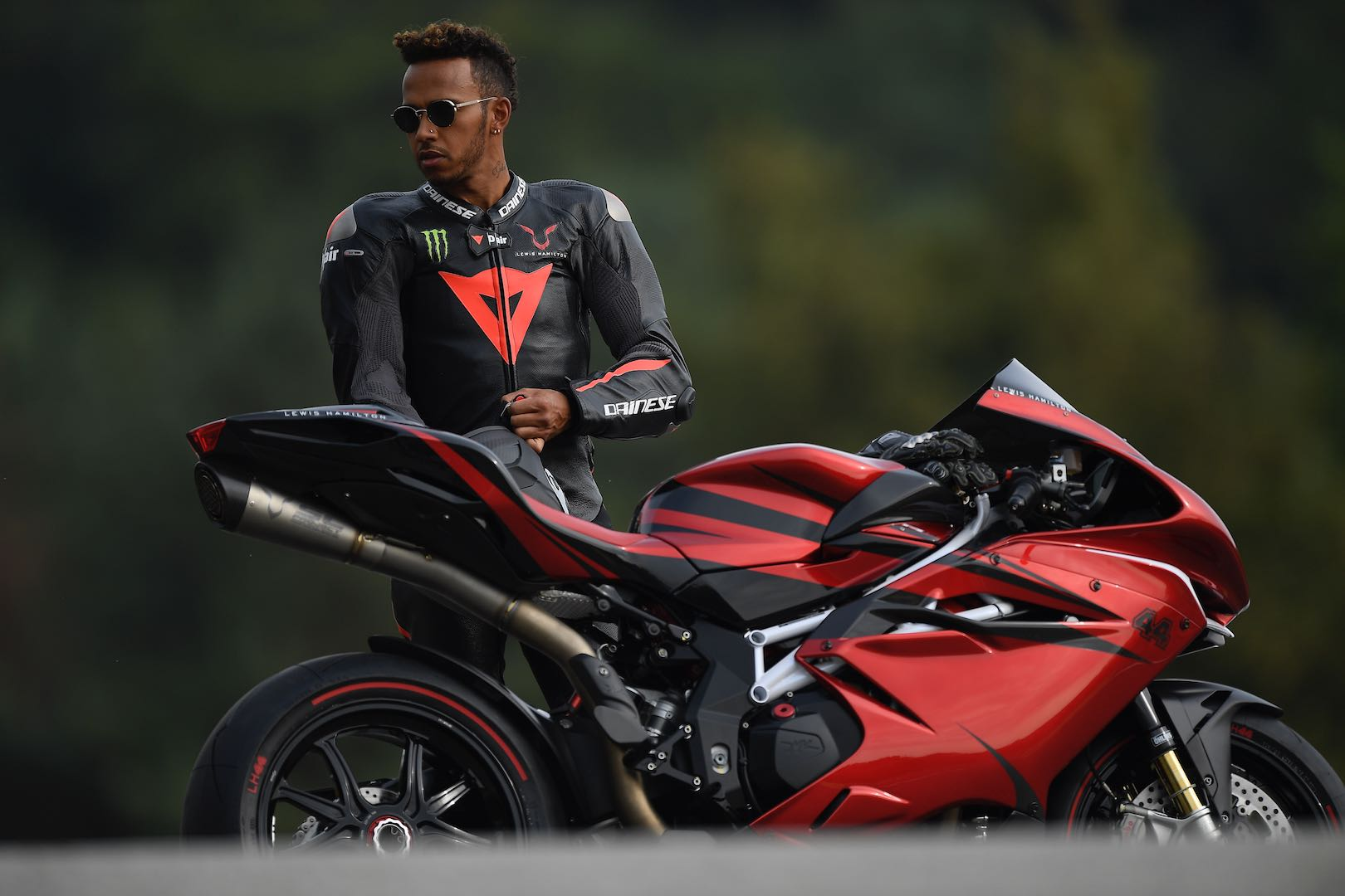 F1 star Lewis Hamilton unveils new F4 LH44 bike with MV Agusta