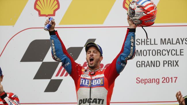 Ducati's Andrea Dovizioso races to victory at Malaysian GP