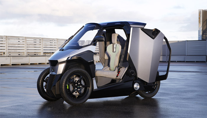 Peugeot presents 4-wheeled, PHEV scooter - as easy to ride as a 3-wheeler!