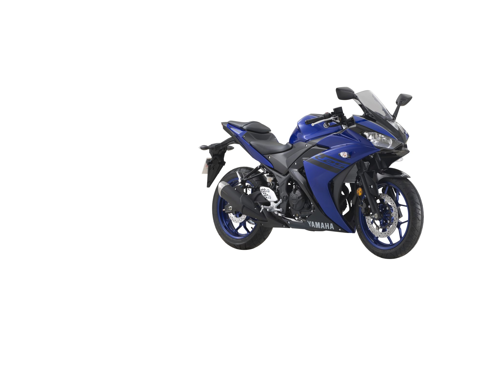 Yamaha YZF R-25 gets updated for 2018 with new colours - black & blue
