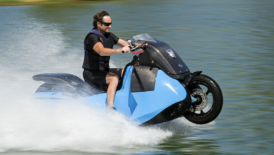 The Gibbs Biski is a motorcycle you can ride on water all day, every day