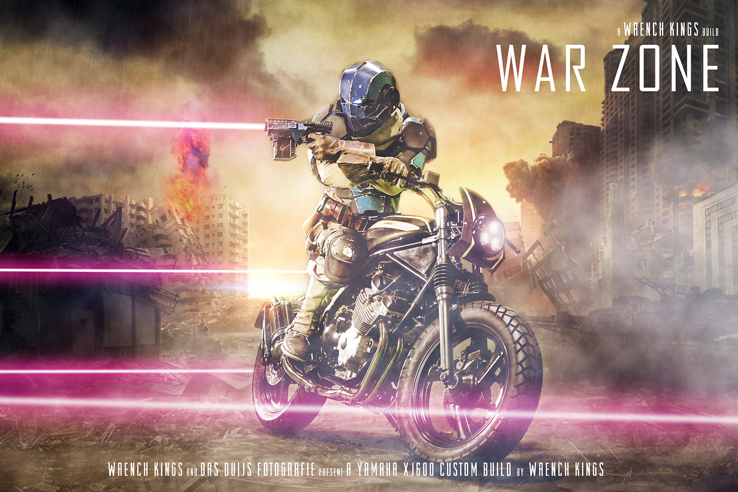 Wrench Kings unveils 'War Zone' project - a battle-ready Yamaha XJ600 Diversion