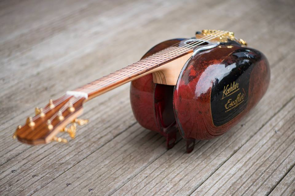 This motorcycle fuel tank is the coolest guitar ever!