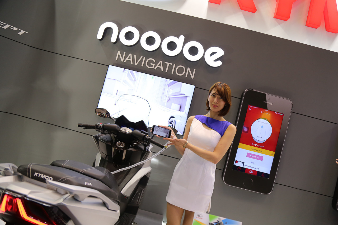 Kymco shows the Noodoe Navigation at Tokyo Motorcycle Show