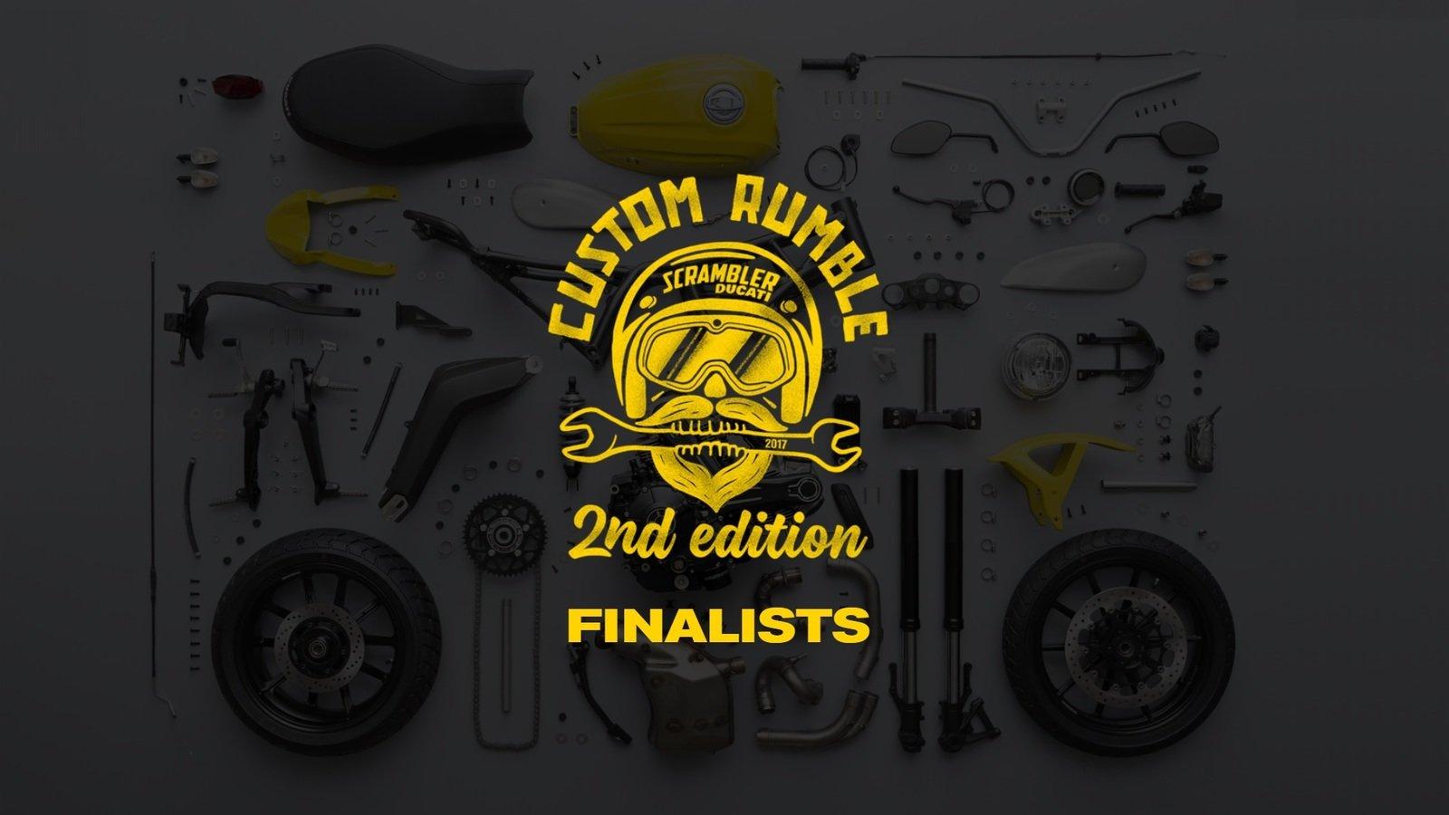 """Ducati Scrambler """"Custom Rumble"""" finalists announced!"""