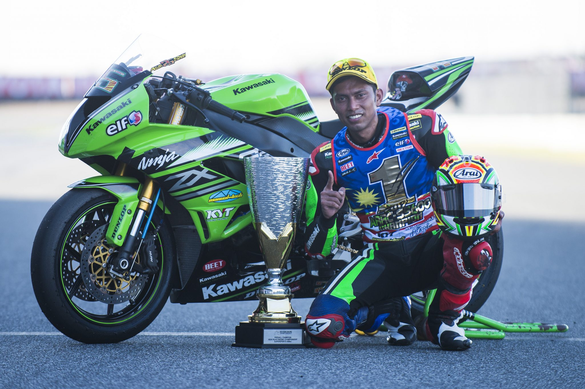 Azlan Shah races in the MSC with Chia Motor PJ Kawasaki Racing Team