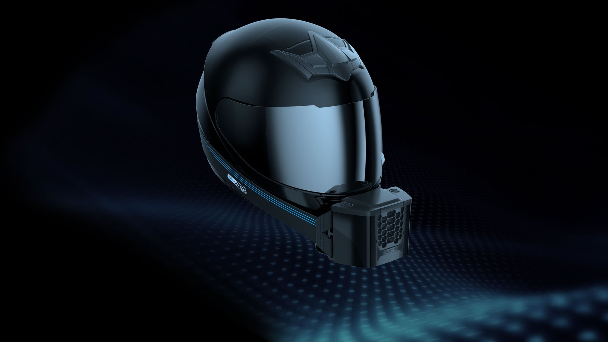 Meet the BluSnap: an air conditioning for your helmet!