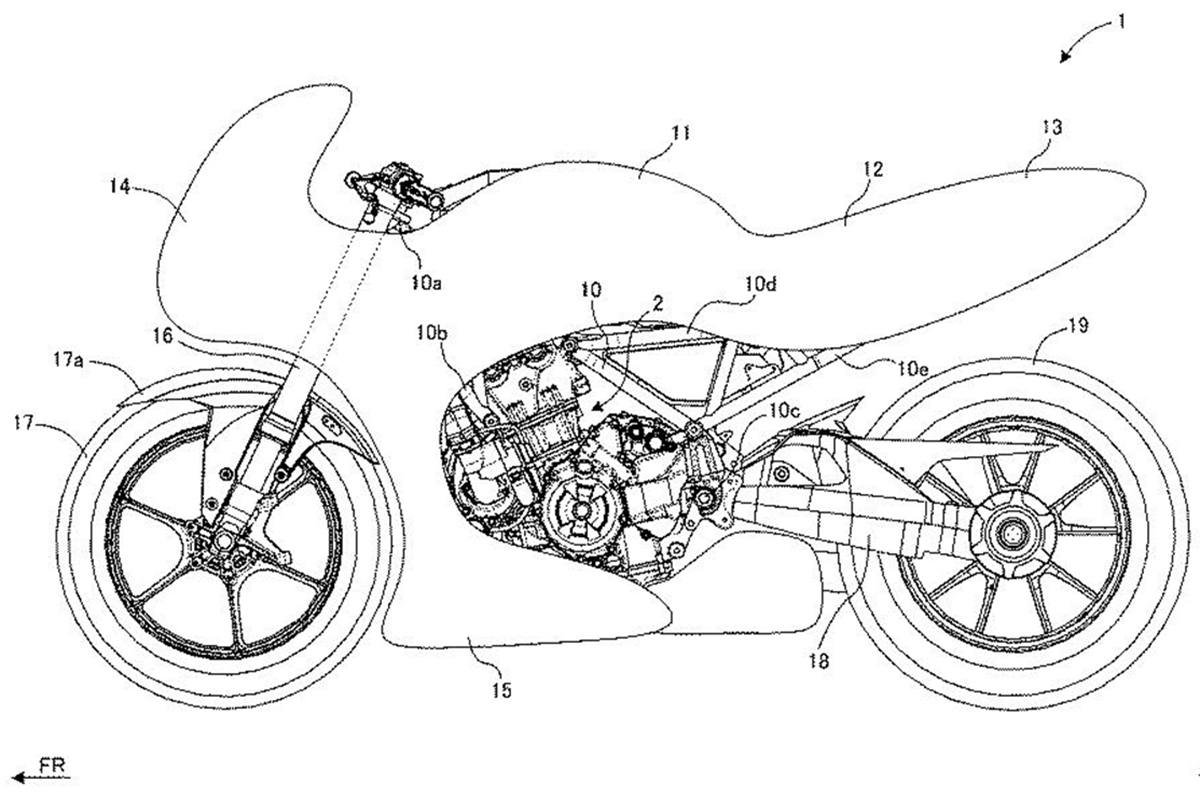 The Suzuki GSX700T is seen again in new patent leak!