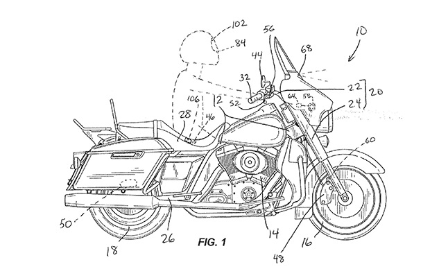 Harley-Davidson files patent for autonomous brake system