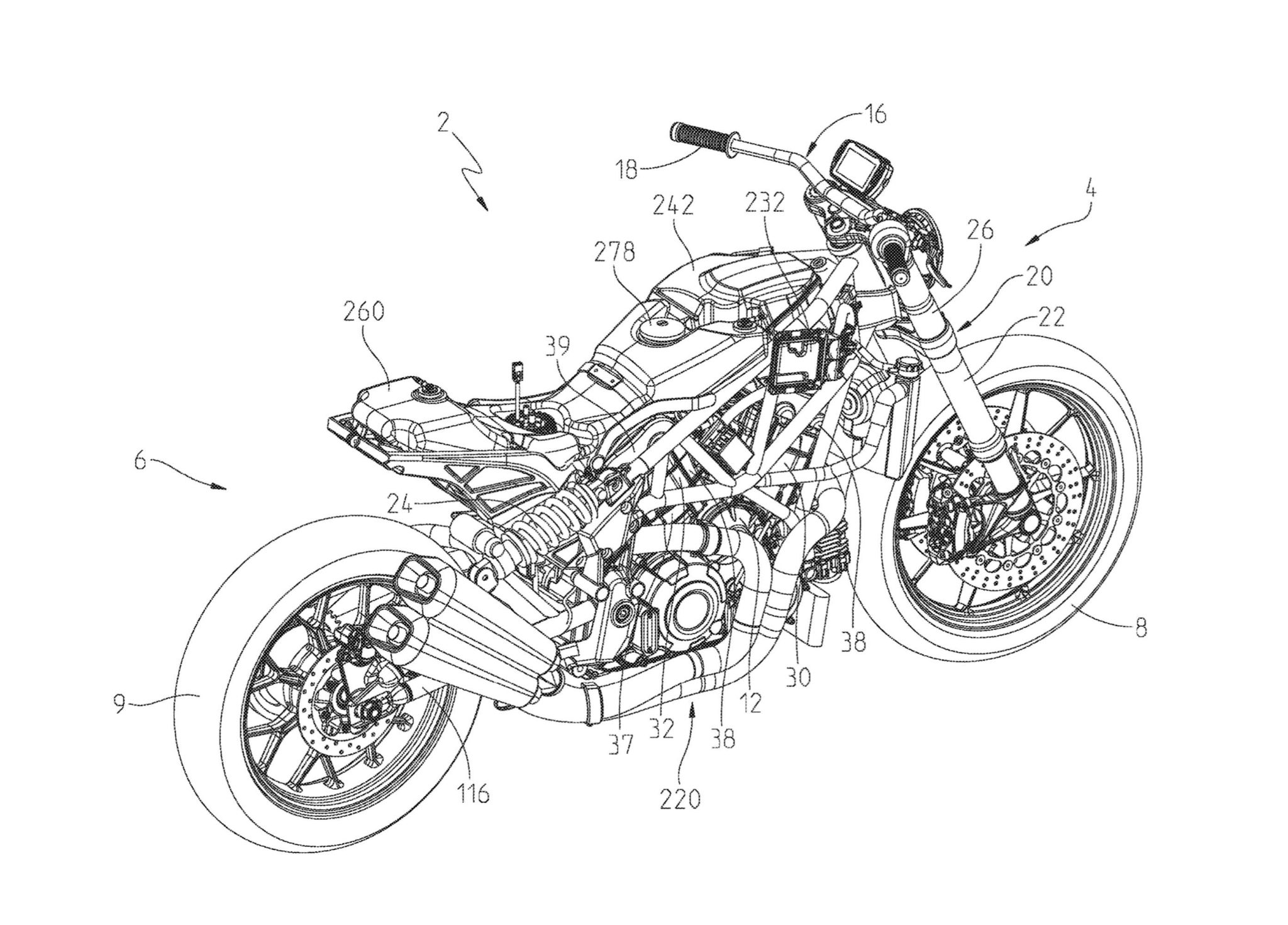 Patent application shows details of the Indian FTR1200 street tracker