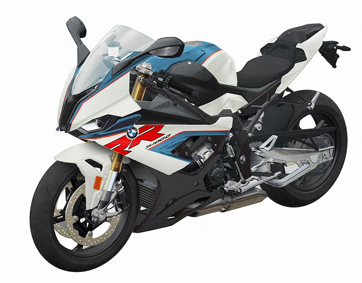 This is how the new BMW S1000RR might look with colored fairings