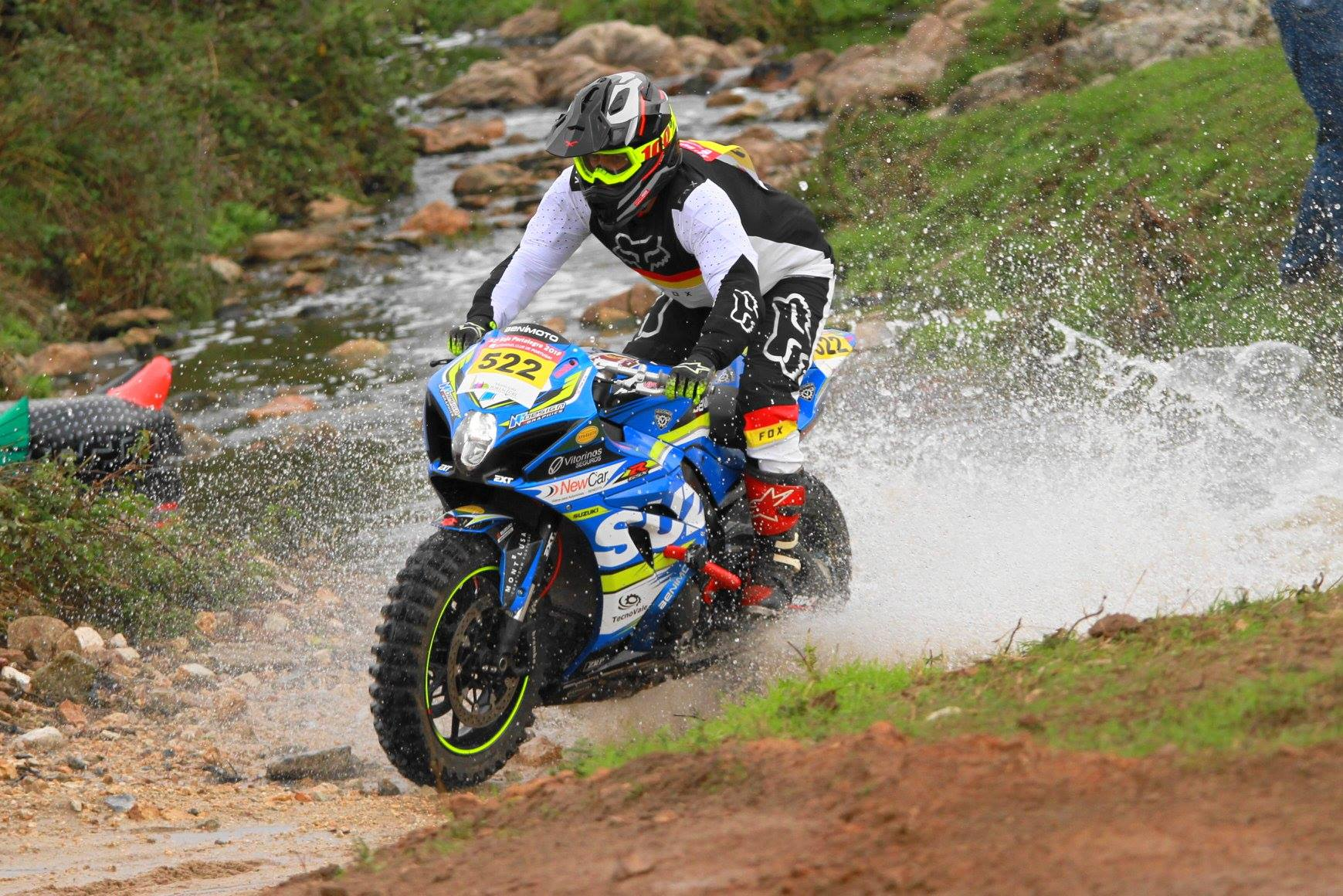 Suzuki GSX R1000 went off road racing and it did a good job!