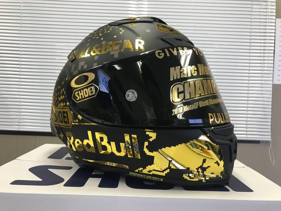 Shoei creates a special X-Spirit III helmet in honor of Marc Marquez title