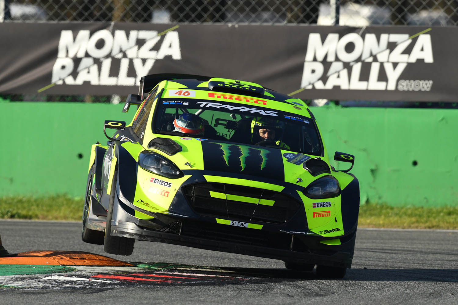Rossi goes flatout wins his seventh Monza Rally Show