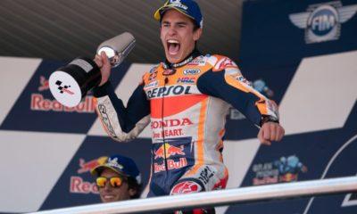 Marc Marquez of Repsol Honda wins Spanish GP