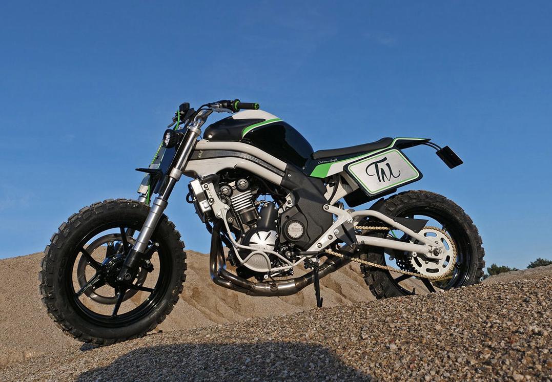 Taverne Motorcycle Garage customizes this Kawasaki Street Tracker