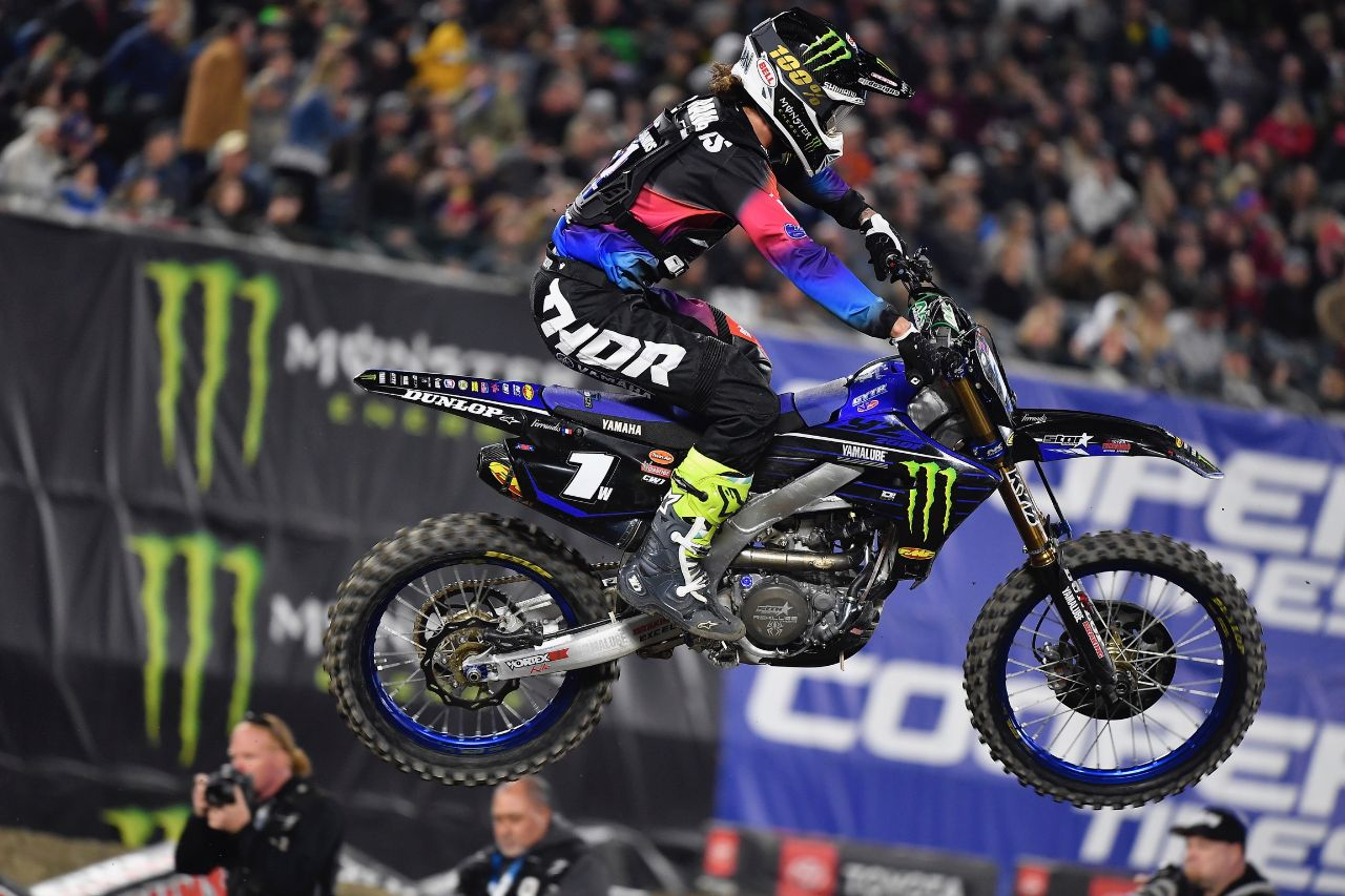 Monster Energy Star Yamaha Racing riders secure 1-2 in Anaheim 2