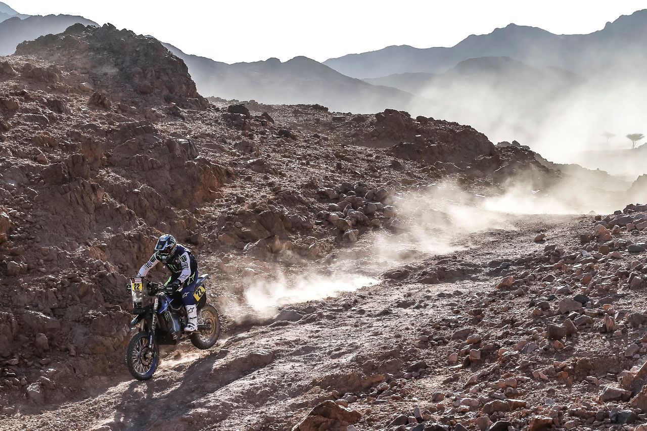 Monster Energy Yamaha Rally team riders struggle in Dakar Rally Stage 2