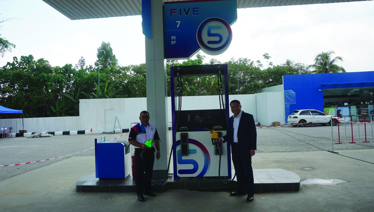 five petrol station owner