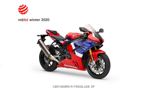 Honda CBR1000RR-R Fireblade Wins Red Dot Design Award
