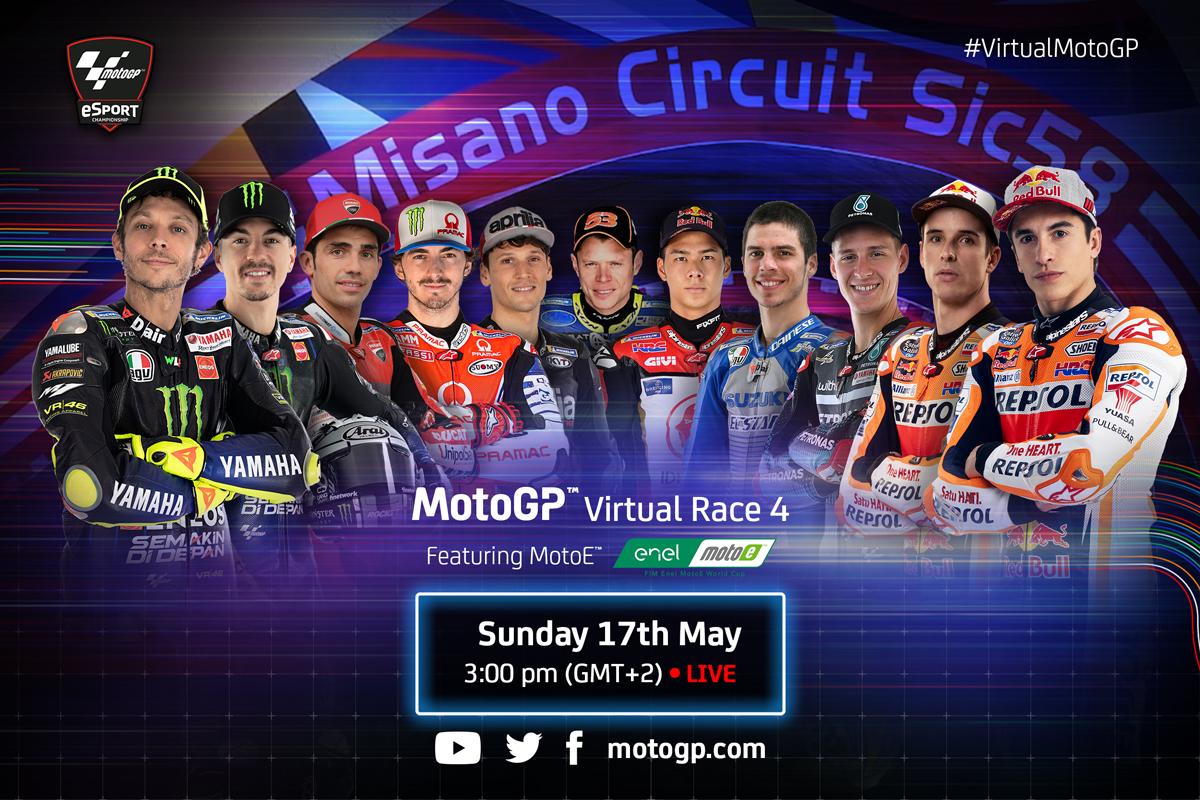 MotoGP Virtual Race 4 Hits Misano With Moto E - Set for May 17th!