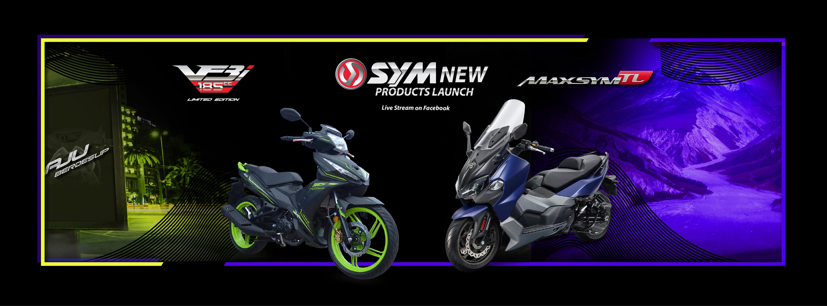 SYM Maxsym TL 500 and Limited Edition VF3i 185 LE with ABS Launched!