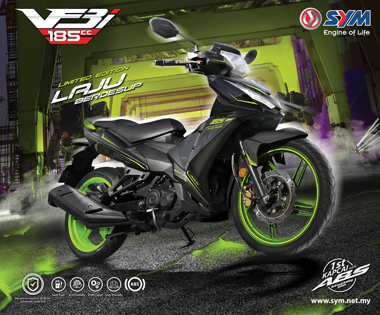 SYM VF3i 185 Limited Edition Marks 70% of Total Booking Out of 5,000 Units!