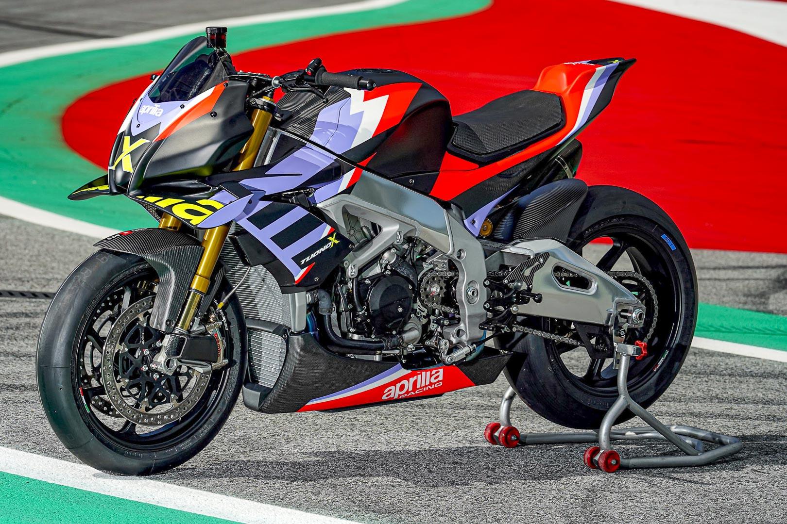 Aprilia Unviels 221 Horsepower Track-Only Aprilia Tuono V4 X