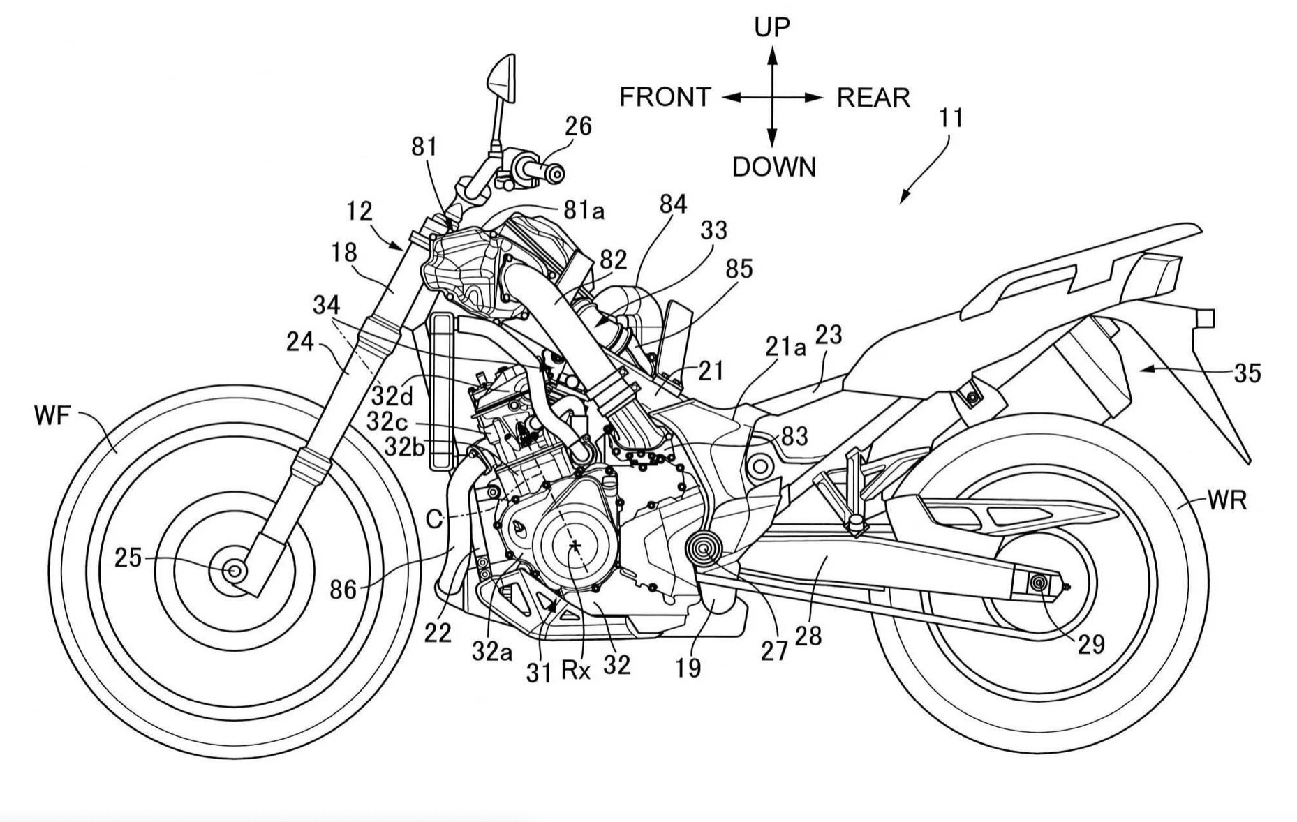 Honda Africa Twin Supercharged Patent
