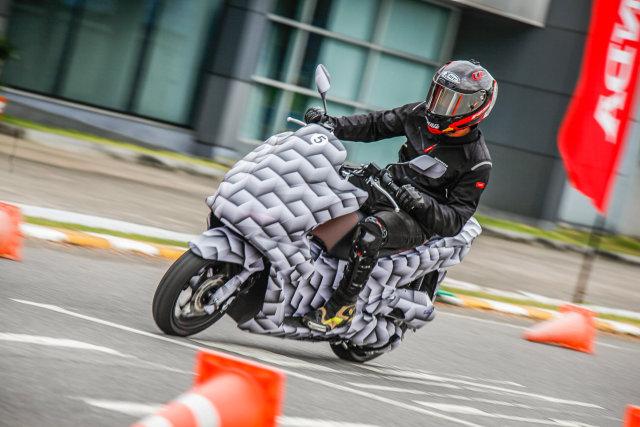 Honda PCX 160 test mule showcased in Thailand