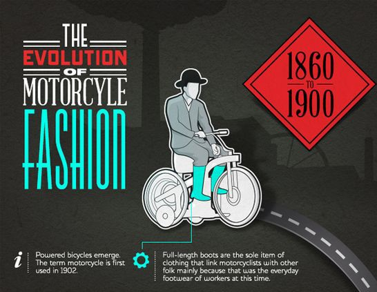 [INFOGRAPHIC] How motorcycle fashion changed in 100 years