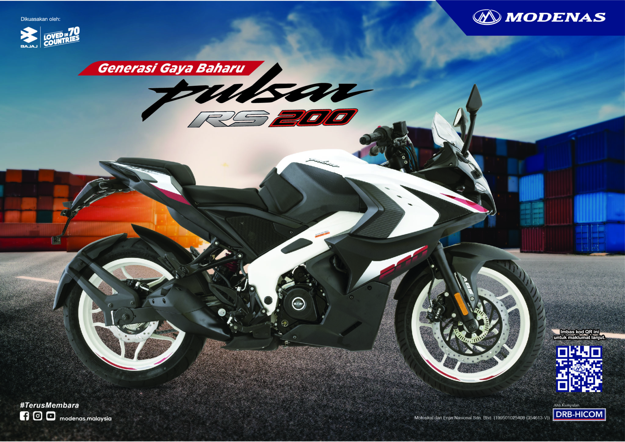 2021 Modenas Pulsar RS200 gets new colours - RM 9,990